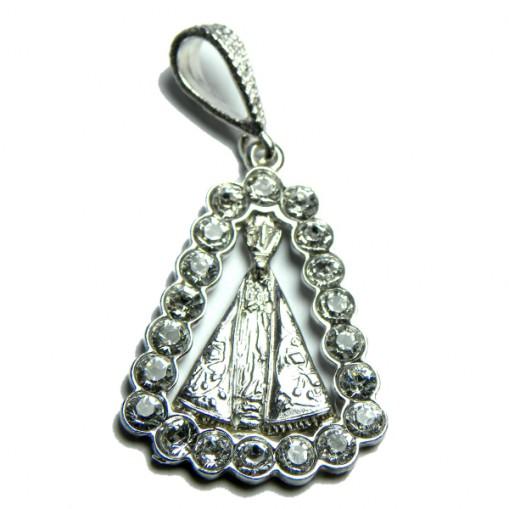 Ciondolo Madonna Aparecida zirconi argento