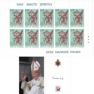 Set Francobolli Sede Vacante 2013 0,75 euro