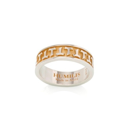 HUMILIS AN AG BG Anello HUMILIS bicolore in argento 925 placcato oro giallo 24 kt 110 EURO