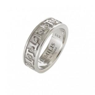 HUMILIS AN.AG.AERE Anello classico HUMILIS AERE in argento 925 rodiato con zirconi bianchi 195 euro