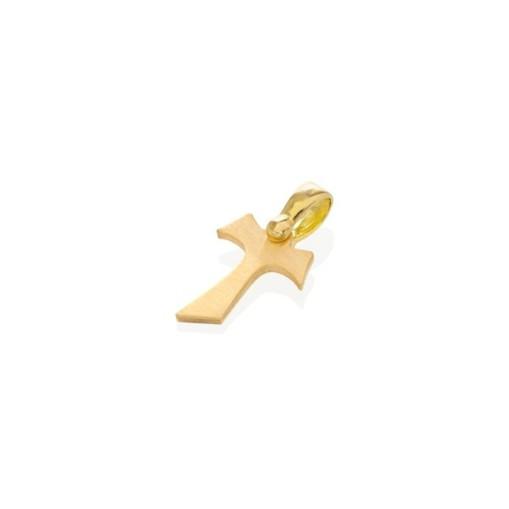 HUMILIS CR.AG.1G.S Croce Tau HUMILIS in argento 925 satinato placcato oro giallo 24 Kt 19 EURO