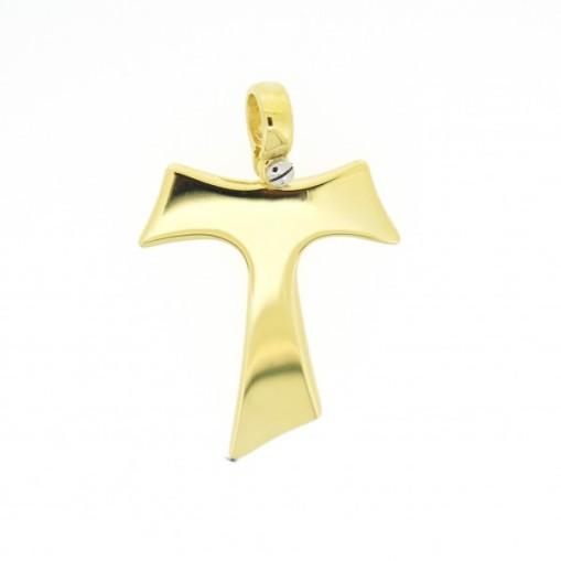 HUMILIS CR.AG.4G Croce Tau HUMILIS in argento 925 placcato oro giallo 24 Kt (vite a fissaggio della contromaglia in argento 925 rodiato) 89 EURO